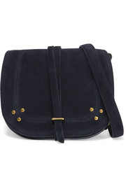 Victor embellished suede shoulder bag