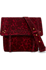 Jeremie small leopard-print suede shoulder bag