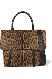 Jérôme Dreyfuss Jeremie leopard-print calf hair shoulder bag