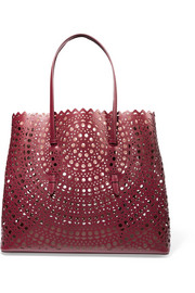 Vienne laser-cut leather tote
