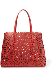 Vienne small laser-cut leather tote