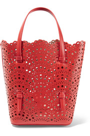 Vienne mini laser-cut leather tote