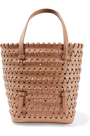 Alaïa Laser-cut woven leather tote