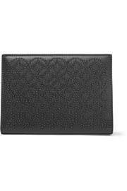 Alaïa Arabesque embellished leather clutch