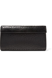 Alaïa Vienne laser-cut leather clutch