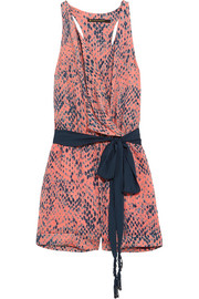 Layla snake-print voile playsuit