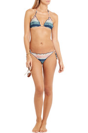 Vix Moonlight printed triangle bikini top