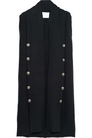 Pierre Balmain Ribbed wool-blend gilet