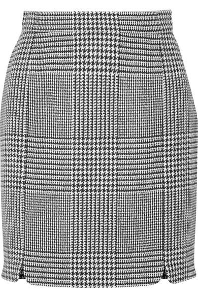Pierre Balmain - Houndstooth Tweed Mini Skirt - Black