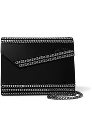 Candy chain-embellished acrylic clutch
