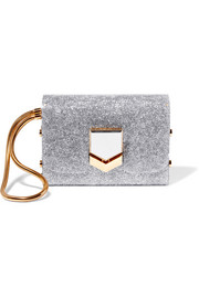 Jimmy Choo Lockett glittered acrylic clutch