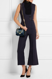 Jimmy Choo Lockett Petite embellished velvet shoulder bag