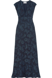 Paul & Joe Floral-jacquard maxi dress