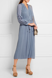 Paul & Joe Elegante plissé crepe midi dress
