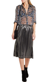 Paul & Joe Esoupolait printed silk-chiffon shirt
