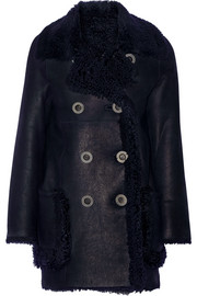 Karl Donoghue Double-breasted reversible shearling coat