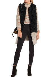 Karl Donoghue Two-tone shearling gilet