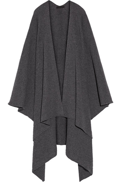 the row female 46361 the row cappeto ribbed cashmere wrap anthracite