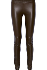 Moto stretch-leather leggings