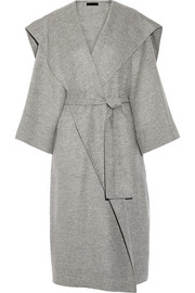The Row Lanja oversized woven wrap coat