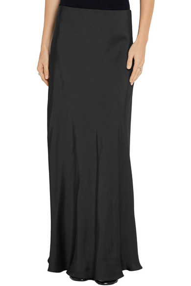 The Row. Annistyan satin maxi skirt