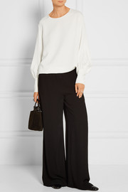 The Row Mireu stretch-cady blouse