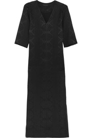 The Row Nusa wool-blend matelassé gown
