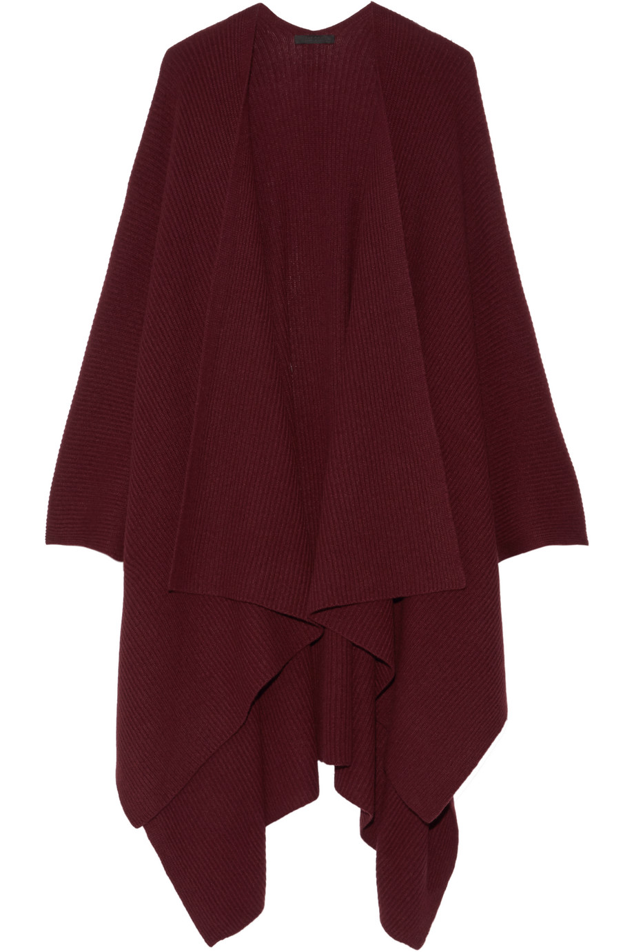 The Row Cappeto Ribbed Cashmere Wrap, Burgundy, Women's, Size: One size