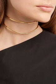 Set of two gold-plated chokers