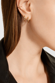 Jennifer Fisher Huggie gold-plated hoop earrings and cuff set
