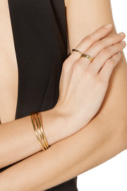 Jennifer Fisher Set of three gold-plated cuffs