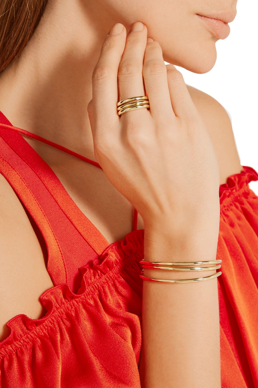 Jennifer Fisher Set of three gold-plated brass rings