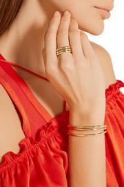 Set of three gold-plated brass rings