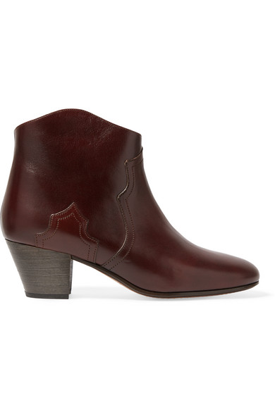 3 stores isabel marant etoile 50mm dicker leather ankle boots bordeaux modesens. Black Bedroom Furniture Sets. Home Design Ideas