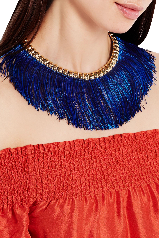 Rosantica Atena fringed gold-tone necklace