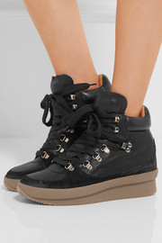 Isabel Marant Brent suede, leather and canvas sneakers