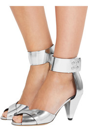 Isabel Marant Étoile Meegan metallic leather sandals