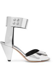 Étoile Meegan metallic leather sandals