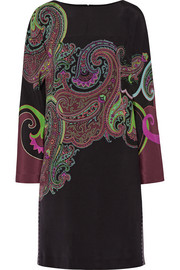 Etro Paisley-print stretch-silk dress
