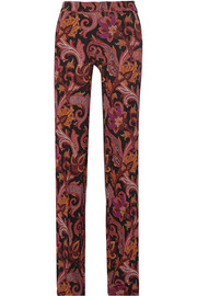 Etro Printed stretch-jersey wide-leg pants