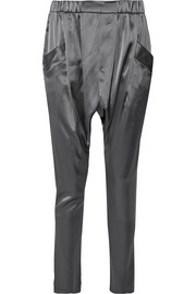 Satin tapered pants