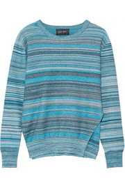 Mélange striped cotton sweater