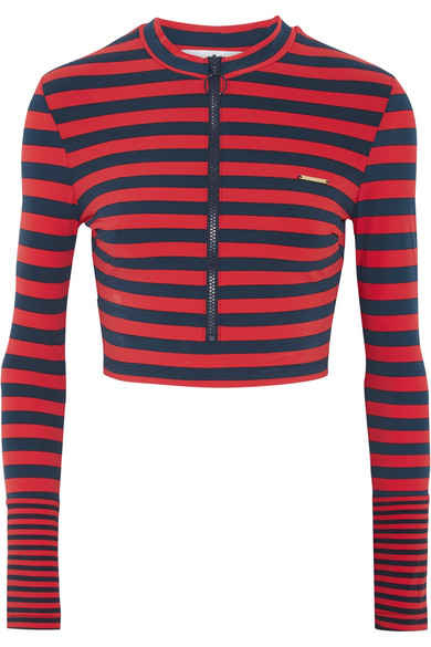 Stella McCartney - Striped Rash Guard - Red