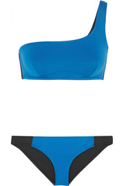 Iconic Color Block one-shoulder bikini