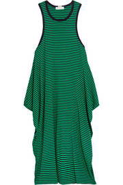 Calypso striped cotton-jersey dress