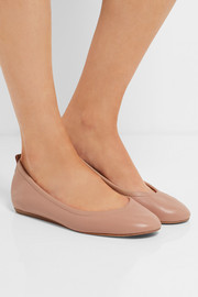 Lanvin Glossed-leather ballet flats