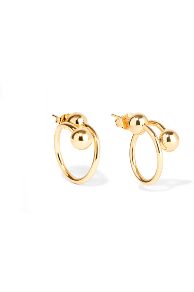 J.W.Anderson - Gold-plated Earrings - one size