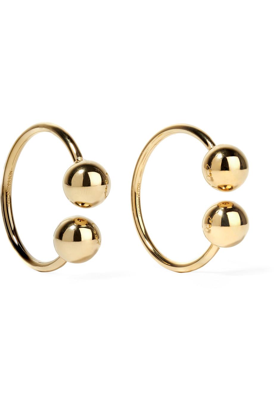 J.W.Anderson Gold-Plated Embellished Hoop Earrings