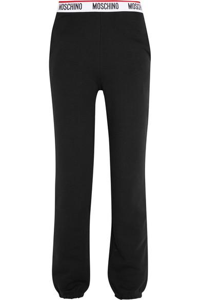Moschino - Cotton-jersey Track Pants - Black