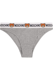 Moschino Ribbed cotton-jersey briefs